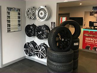 Wolfrace Wheels on display in Tyre-Smart Showroom Pic1