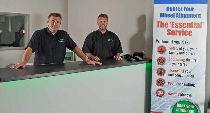 Tyre-Smart (Essex) Customer Service Desk with Hunter Four Wheel Aligment information