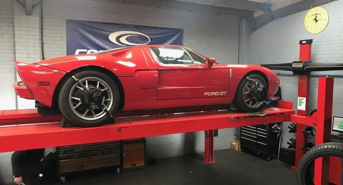 Tyre-Smart (Essex) GT40 wheel alignment