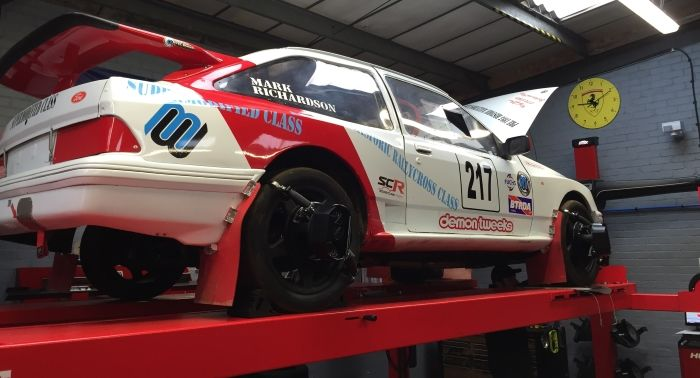 Tyre-Smart (Essex) Car preparing race car with wheel alignment